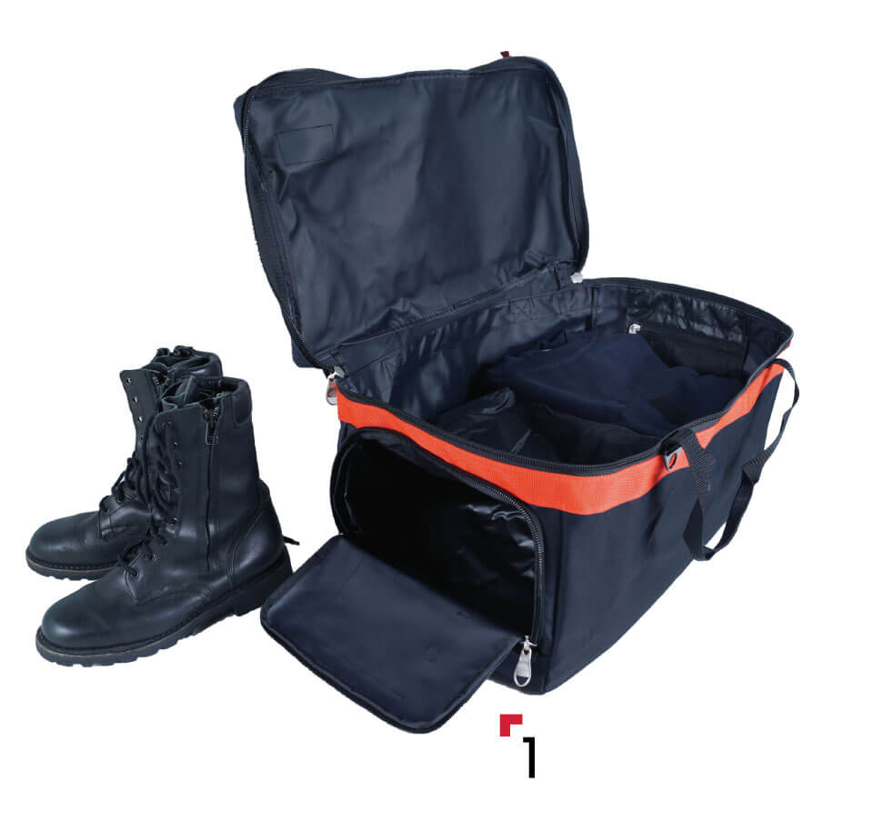 PPE bag with shoes compartment