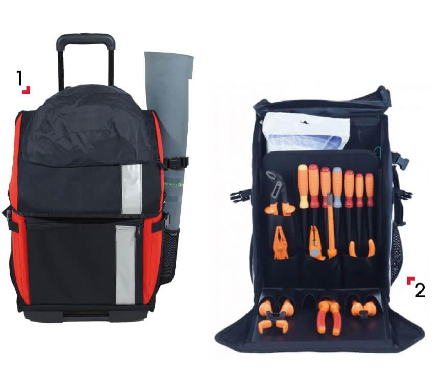 Electrician Tool Bag open